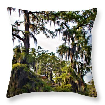 Secluded Retreat Throw Pillow by Lana Trussell