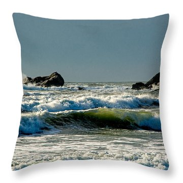 Second Beach Winter Morning 1 Throw Pillow