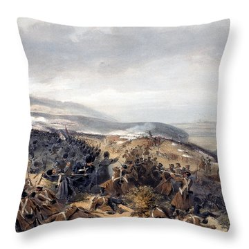 Second Charge Of The Guards When Throw Pillow