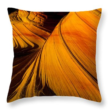 Second Wave Throw Pillow