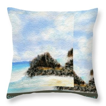 Secret Beach Sky Details Throw Pillow by Kenneth Grzesik