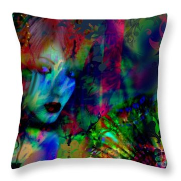 Throw Pillow featuring the digital art Secret Beauty by Diana Riukas