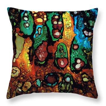 Secret Caves.. Throw Pillow by Jolanta Anna Karolska