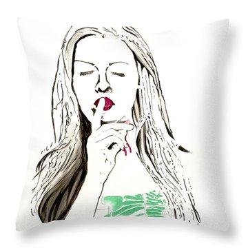 Secret Throw Pillow by Denise Deiloh