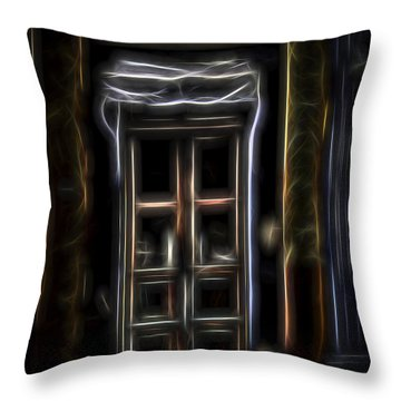 Throw Pillow featuring the digital art Secret Doorway by William Horden