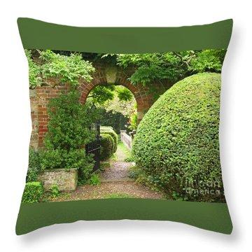 Secret English Garden Throw Pillow by Ann Horn