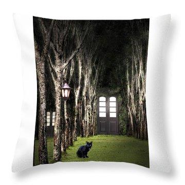 Secret Forest Dwelling Throw Pillow by Nirdesha Munasinghe