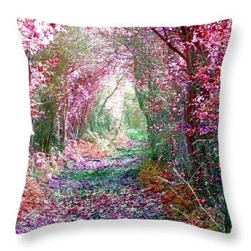 Throw Pillow featuring the photograph Secret Garden by Vicki Spindler
