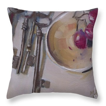 Secret Keys Skeleton Keys Throw Pillow by Mary Hubley