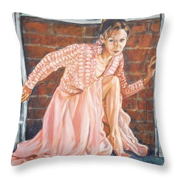 Secret Passage Throw Pillow by Bryan Bustard