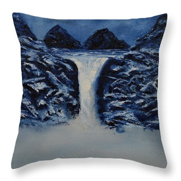 Throw Pillow featuring the painting Secret Places by Shawn Marlow