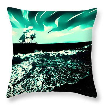 Secret Storm Throw Pillow