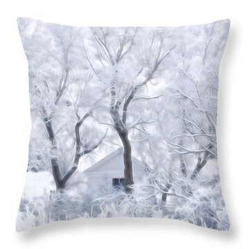 Secret Winter Hideaway Throw Pillow by Diane Alexander