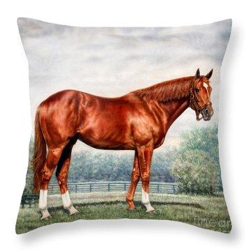 Pillow - Secretariat Throw Pillow by Thomas Allen Pauly