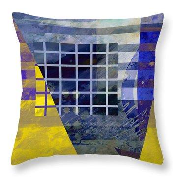 Secrets - Abstract Art Throw Pillow by Ann Powell