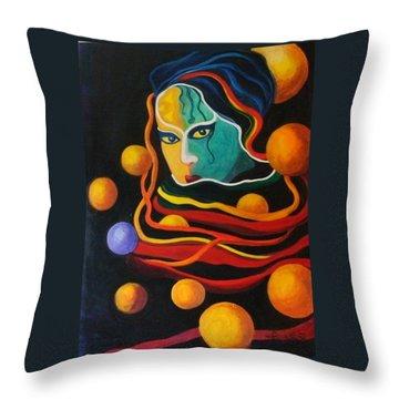 Secrets Throw Pillow by Carolyn LeGrand