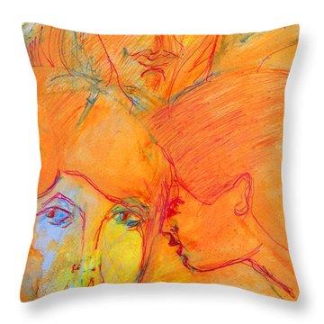 Secrets Throw Pillow by Judith Redman