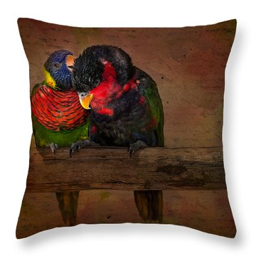 Secrets Throw Pillow by Susan Candelario
