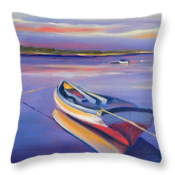 Securely Tethered II Throw Pillow by Trina Teele