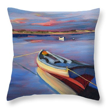 Securely Tethered Throw Pillow by Trina Teele