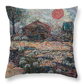 Sedgy Pond Throw Pillow