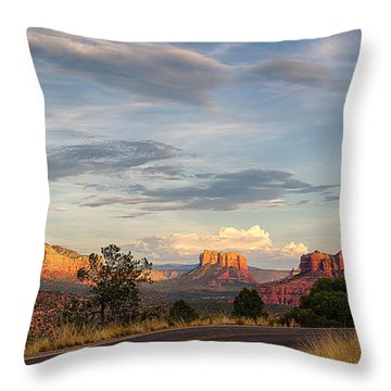 Sedona Arizona Allure Of The Red Rocks - American Desert Southwest Throw Pillow