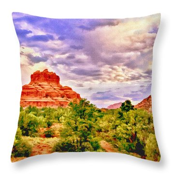 Sedona Arizona Bell Rock Vortex Throw Pillow