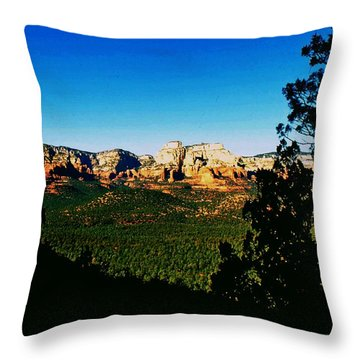 Sedona Arizona Throw Pillow by Gary Wonning