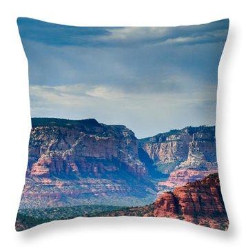 Sedona Arizona Panorama Throw Pillow by Terry Garvin