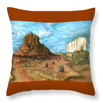 Sedona Arizona - Western Art Painting Throw Pillow