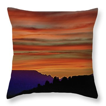 Sedona Az Sunset 2 Throw Pillow