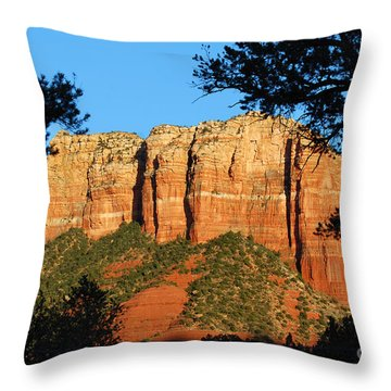 Sedona Courthouse Butte  Throw Pillow