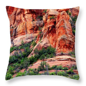 Sedona Perspective Throw Pillow by Carol Groenen
