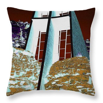 Sedona Rock Church Throw Pillow