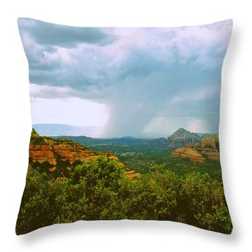 Sedona Storm Throw Pillow by Gary Wonning