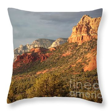 Sedona Sunshine Panorama Throw Pillow