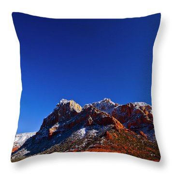 Throw Pillow featuring the photograph Sedona Winter by Tom Kelly