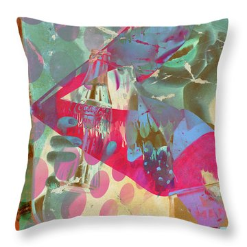 Seduction Of Soda  Throw Pillow