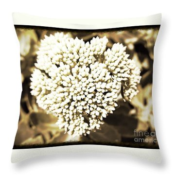 Sedum In The Heart Throw Pillow