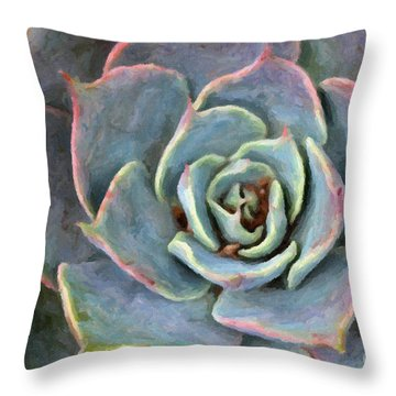 Sedum With Pink Edges Throw Pillow