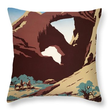 See America - Cowboys Throw Pillow by Georgia Fowler