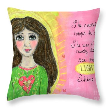See Her Light Shine Throw Pillow