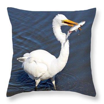 See My Catch Throw Pillow by Cynthia Guinn