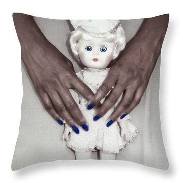 See My Doll Throw Pillow by Kellice Swaggerty