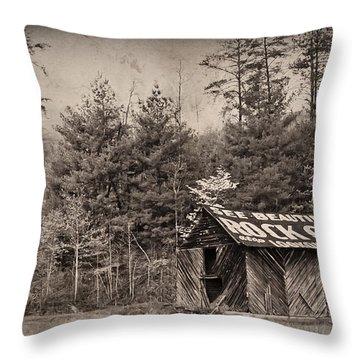 See Rock City  Throw Pillow by Debra and Dave Vanderlaan