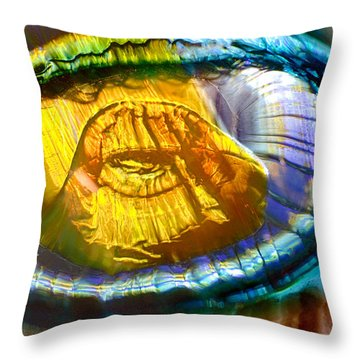 See Shell Or Sea Shell Throw Pillow by Omaste Witkowski