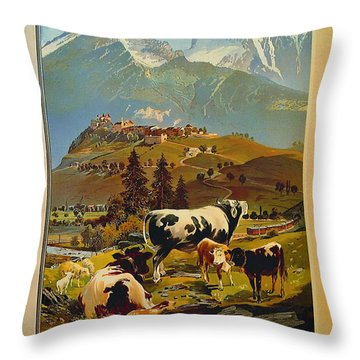 See Switzerland 1906 Throw Pillow by Mountain Dreams
