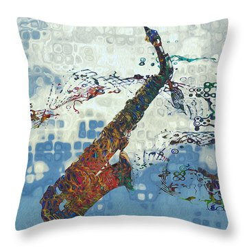 See The Sound 2 Throw Pillow by Jack Zulli