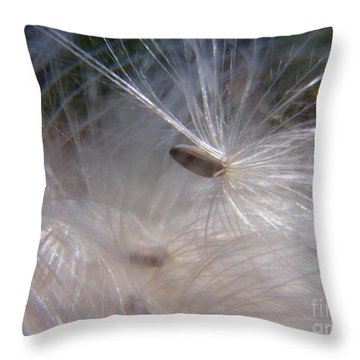 Throw Pillow featuring the photograph Seed Of Life by Agnieszka Ledwon