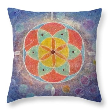 Seed Of Life Mandala Throw Pillow